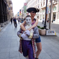 Having fun in Italië.